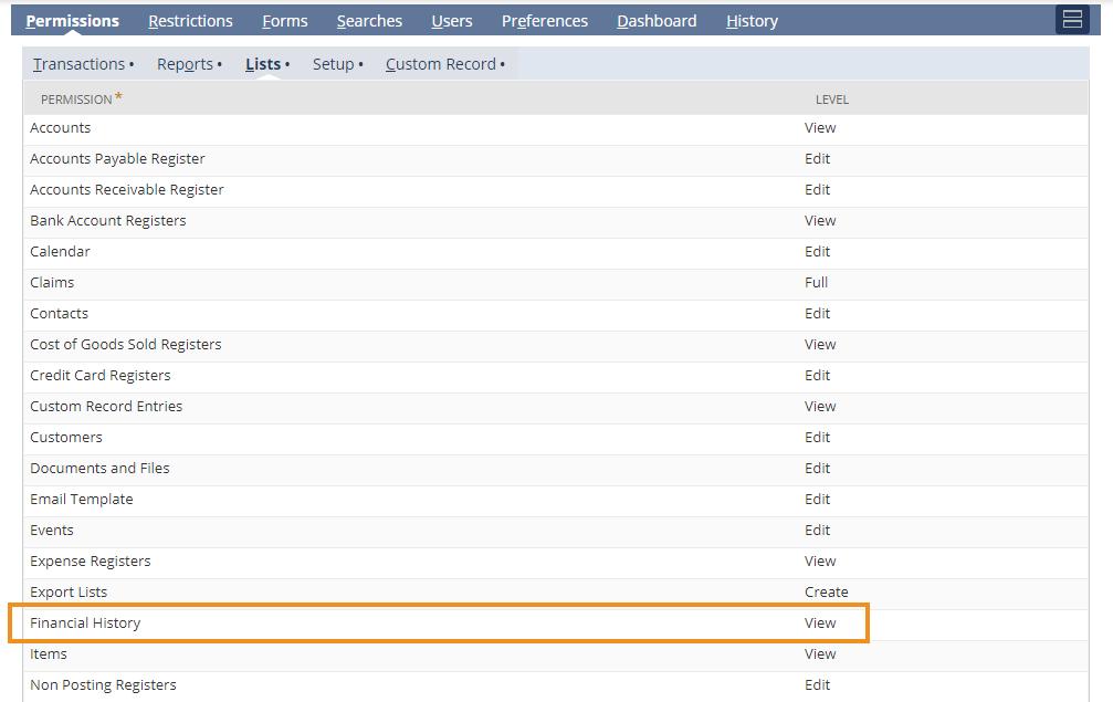 "screenshot of ""Custom Role Transactions Sublist Missing on Vendor Records"""
