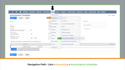 Deleting Amortization Schedules