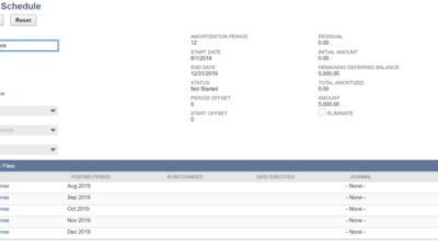 Editing Amortization Schedules