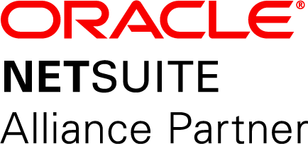 """Oracle"" in red ""NETSUITE"" and ""Alliance Partner"" in black"