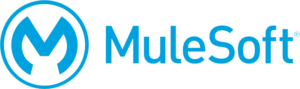 """M"" inside a circle the word ""MuleSoft"" in blue"